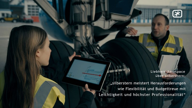 "Corporate Communications: (Liebherr-Aerospace Lindenberg GmbH) - ""silberstern meistert Herausforderungen wie Flexibilität und Budgettreue mit Leichtigkeit und höchster Professionalität."""