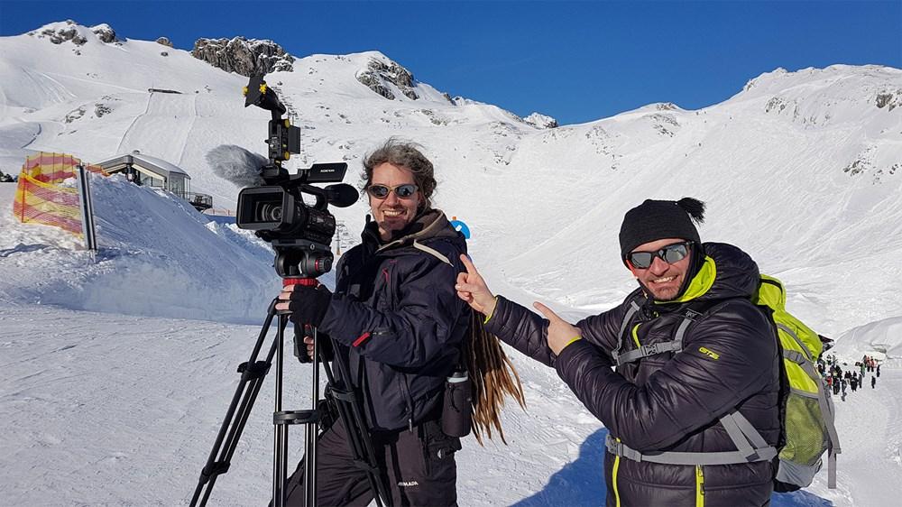 silberstern Filmproduktion Schulung für Filmdreh und Filmschnitt auf dem Nebelhorn